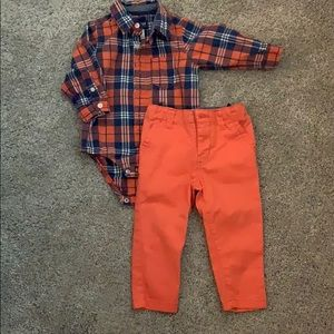 OshKosh collared button down and pant set